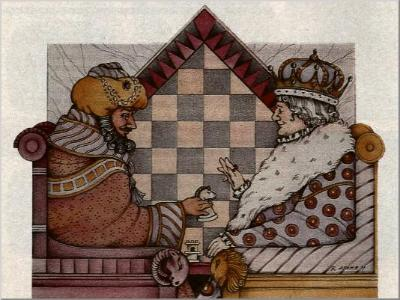 """Two Kings"" picture taken from an ATARI Video Chess advert."
