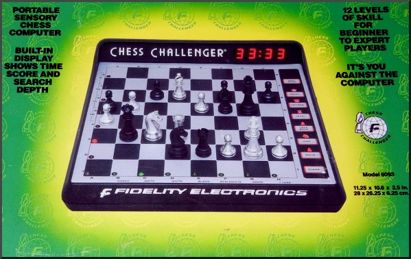 FIDELITY EXCEL DISPLAY Electronic Chess Computer.