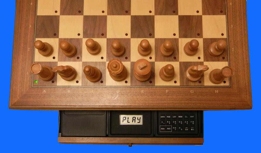Mephisto Roma II (1989) Top View of Mephisto Roma II  inside Modular Chess Board
