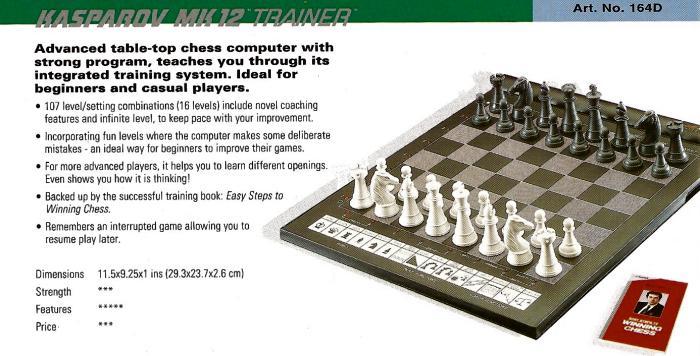saitek kasparov chess computer manual